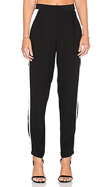 Sanctuary Tuxedo Jogger in Black & Winter White