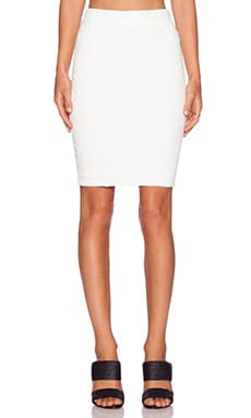 Sanctuary Pencil Midi Skirt in White