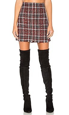 Siena Blanket Skirt in Red Plaid