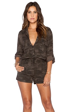 Sanctuary Soft City Romper in Charcoal Camo