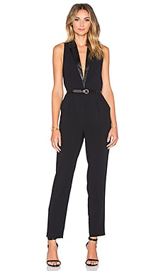 Sanctuary Tuxedo Jumpsuit in Black