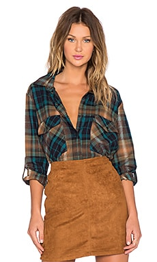 Sanctuary Boyfriend Button Down in Isabelle Plaid