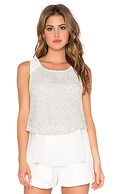 Sanctuary Textured Shell Tee in Moonrise