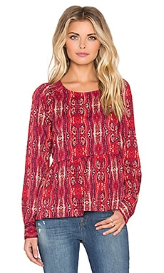 Sanctuary Organic Boho Blouse in Scarf