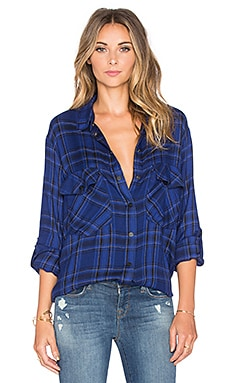 Sanctuary Boyfriend Shirt in Tanzanite Plaid