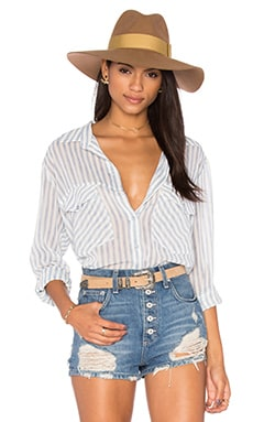 Sanctuary Boyfriend Shirt in Laundry Stripe