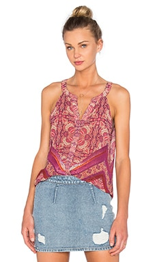 Border Shell Tank in Sunset Boho
