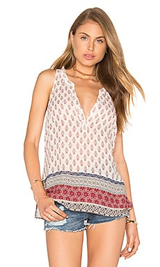 Sanctuary Mori Popover Tank in Filigree Patchwork