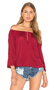 Sanctuary Bella Off the Shoulder Top in Boheme Red