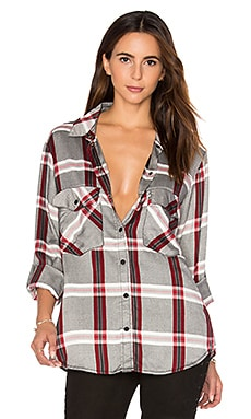 Boyfriend Plaid Button Up in Cobain Plaid