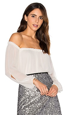 Chantel Off the Shoulder Top in Winter White
