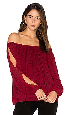 Chantel Off Shoulder Top in Red Boho