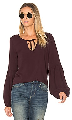 Scarlet Blouse in Dark Shiraz