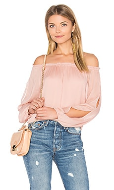 Chantel Off Shoulder Top en Rose Grisé