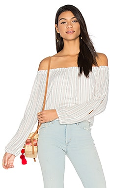 Chantel Off Shoulder Top in Ainsley Stripe