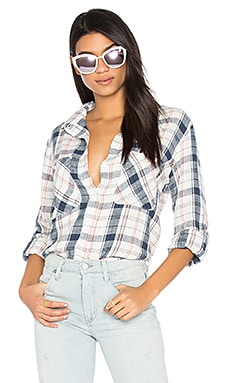 Steady Boyfriend Button Up in Mazzie Plaid