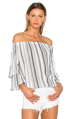 Charlotte Top in Margaux Stripe