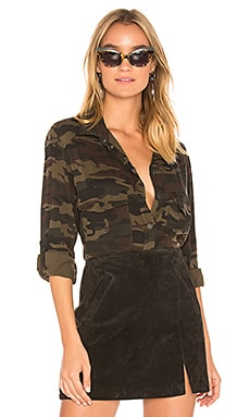 Boyfriend Camo Button Up