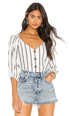 Modern Summer Button Front Top Sanctuary $48