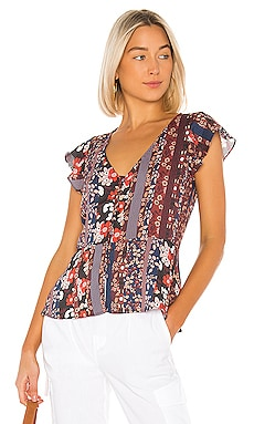 Over The Moon Peplum Shell Top Sanctuary $44