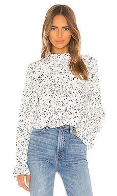 Solstice Mock Neck Blouse Sanctuary $99