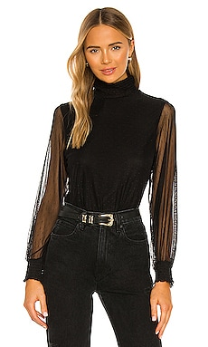 Smocked Mesh Top Sanctuary $59