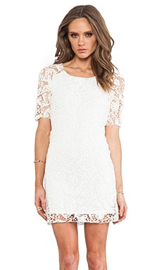 Anna Lace Dress in Off White