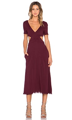 SAM&LAVI Genevieve Dress in Wine