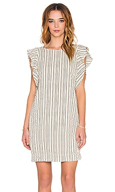 SAM&LAVI Jessie Dress in Bone Alex Stripe