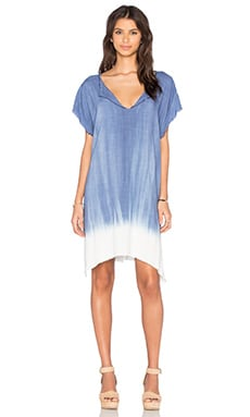 Mabel Dress in Malta Blue & Dip Dye Mojave