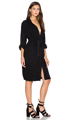 LAVI by SAM&LAVI Namina Dress in Itsza Black Rayon Linen Pucker