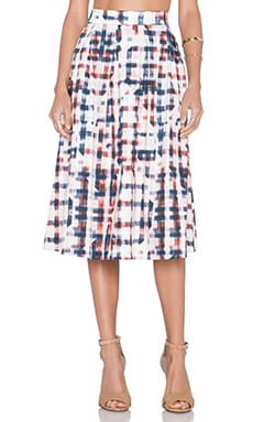 SAM&LAVI Olivia Skirt in Uni Plaid