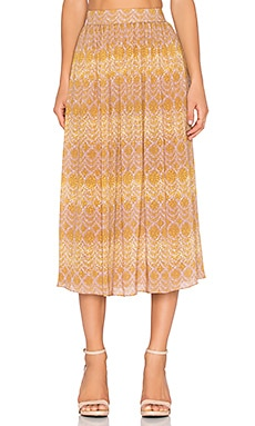 SAM&LAVI Quinn Skirt in Goldi