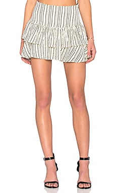 SAM&LAVI Iris Skirt in Bone Alex Stripe