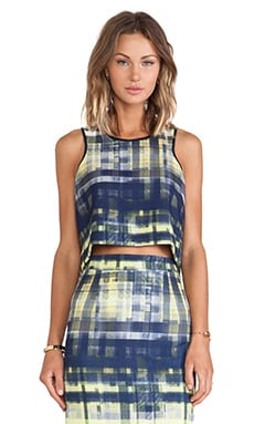 SAM&LAVI Alixia Tank in Tatter Plaid