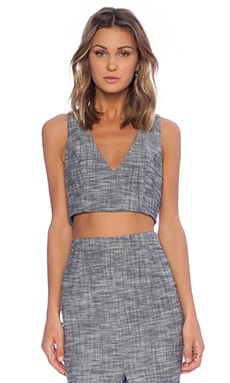 SAM&LAVI Sydney Top in Heather Chambray