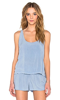 LAVI by SAM&LAVI Luna Back Tank in Chambray