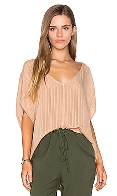 Lynn Top in Indian Tan Fiji Plaid