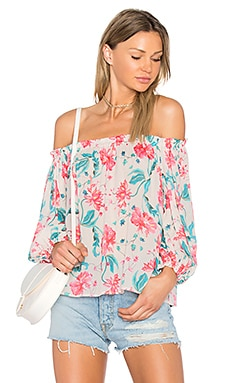 April Top in Mum Print