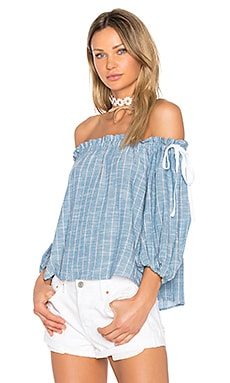 Sachi Top en Elysian Stripe