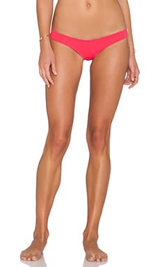 SAN LORENZO Festival Caged Thong Bikini Bottom in Ruby Red