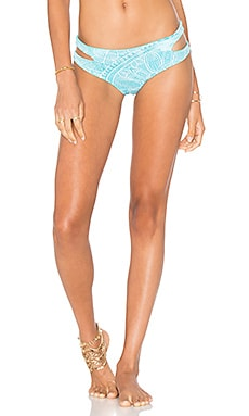 Cut Out Bikini Bottom in Topaz