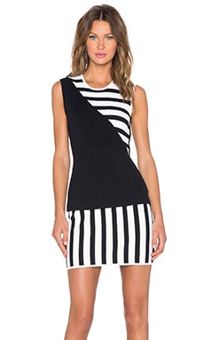 Sass & Bide Side 1 Track 2 Dress in Ivory & Black
