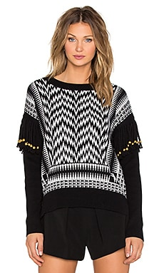 Sass & Bide Rebel Prince Poncho in Black & White