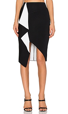 Sass & Bide The Great Distance Skirt in Black & White