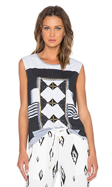 Sass & Bide Girl Thinking Top in Grey Marle