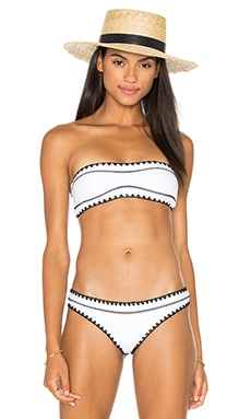 The Babe Bandeau in Blanc & Nior