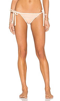 Same Swim The Tease Tie Side Bottom in Naturel & Blanc