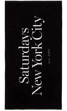 SATURDAYS NYC Miller Standard Towel in Black
