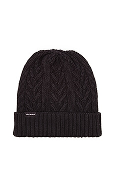 SATURDAYS NYC Cable Beanie in Black